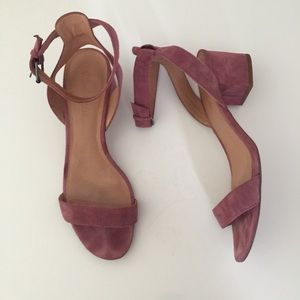 Madewell The Alice Sandals heels pink